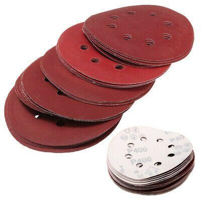 25pcs 5 Inch 125mm 8 Hole Sanding Discs 400 1200 Grit Sandpaper In 2020 Sandpaper Wooden Beads Belt