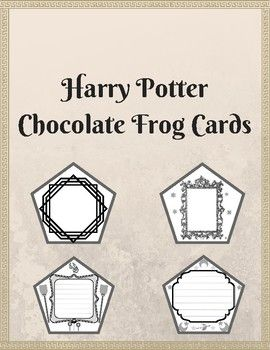 This Product Includes 6 Distinct Chocolate Frog Card Templates Modeled After The Chocolate Chocolate Frog Harry Potter Hogwarts Letter Harry Potter Printables