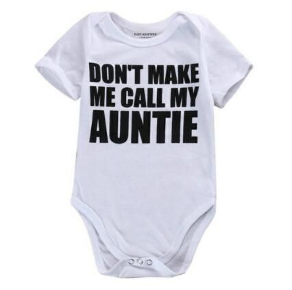 My Auntie Loves Me Infant Baby Bodysuit Short Sleeve Jumpsuit Summer Onesie Novelty Funny Gift