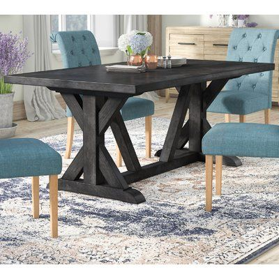 Laurel Foundry Modern Farmhouse Sydney Solid Wood Dining Table Wayfair In 2020 Dining Table Wood Dining Table Simple Dining Table