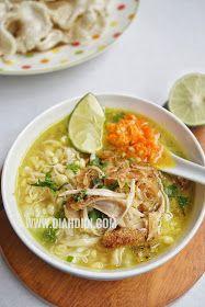 Diah Didi S Kitchen Soto Kemiri Tanpa Santan Resep Masakan Resep Masakan Indonesia Masakan Indonesia