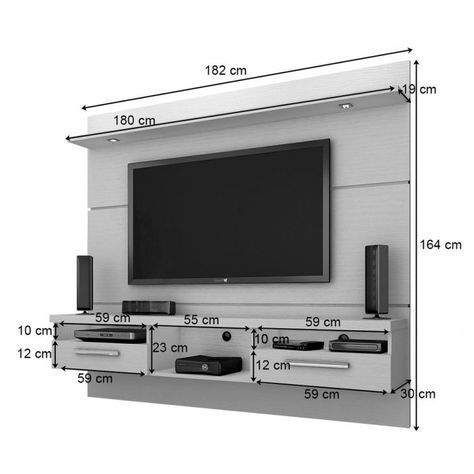 Painel Para Tv Toledo 1 8 Com Led Ipê Tv Wall Wall Tv Unit Design Living Room Tv Wall