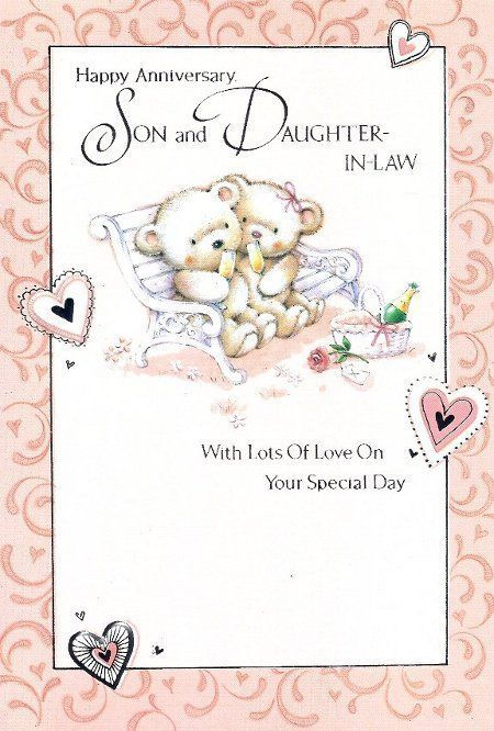 Happy Anniversary Wishes To Son Happy Anniversary Son And Daughter In Law Ben Happy Anniversary Sister Wedding Anniversary Cards Happy Marriage Anniversary