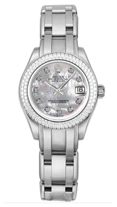 Rolex Pearlmaster Mother of Pearl Diamond Dial Women's Watch