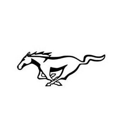 Mustang Horse Modern Emblem Vinyl Decal Sticker Racing Pony Car Window Laptop La Mustang Tattoo Mustang Logo Mustang Horse