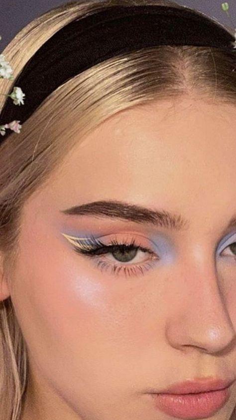Cute Makeup Looks, Makeup Eye Looks, Eye Makeup Art, Pretty Makeup, Skin Makeup, Makeup Inspo, Makeup Inspiration, Makeup Trends, Makeup Ideas