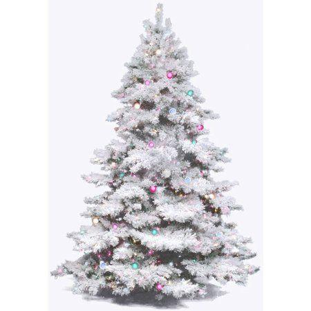 Vickerman Pre Lit 6 5 Flocked Alaskan Artificial Christmas Tree Multicolor Lights Walmart Com In 2020 Flocked Christmas Trees White Artificial Christmas Tree Flocked Artificial Christmas Trees