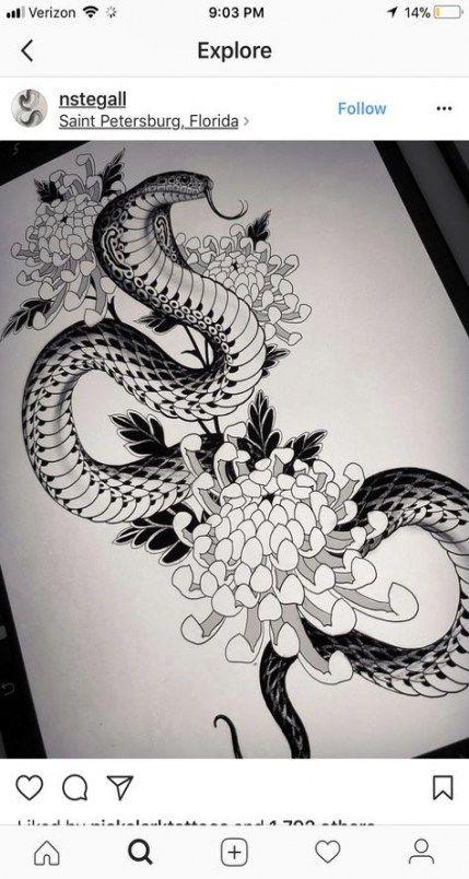 31+ Ideas For Tattoo Snake Oriental #tattoo