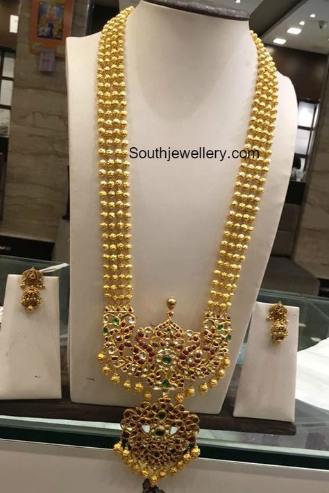 Kundan long chain latest jewelry designs - Page 7 of 14 - Indian Jewellery Designs