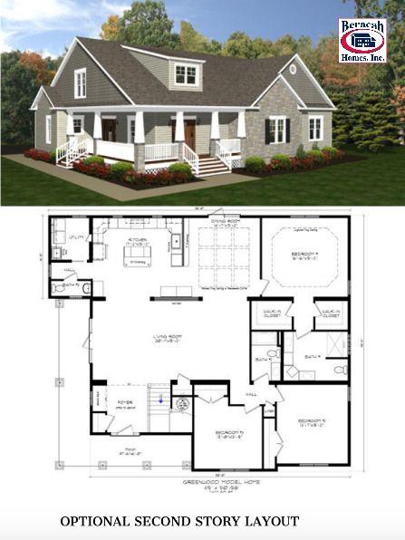 The Greenwood Craftsman Modular Home Floor Plans Custom Home Builders Floor Plans