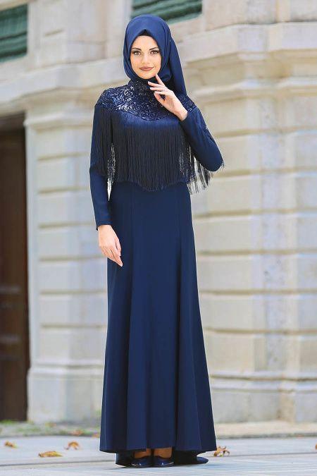 Neva Style Tesettur Puskullu Abiye Elbise Modelleri Moda Tesettur Giyim Moda Stilleri Elbise Modelleri Elbise
