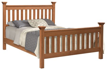 Birmingham Slat Bed | Amish Beds | Bed slats, Bed, Amish ...