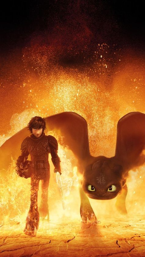 How to Train Your Dragon: The Hidden World (2019) Phone Wallpaper | Movie Backgr...