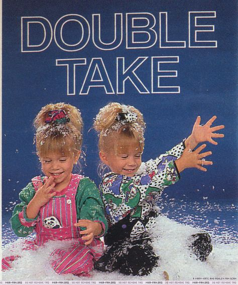 """From a 1990 """"TV Guide"""": Is Michelle Tanner eating the fake snow? 