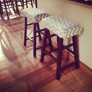 barstools // upholstery // DIY