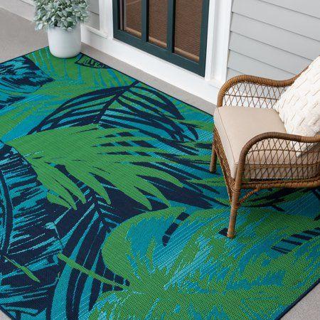 indoor outdoor area rugs tropical