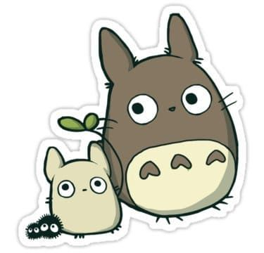 Totoro Decal Laptop Decals Stickers Laptop Decal Stickers