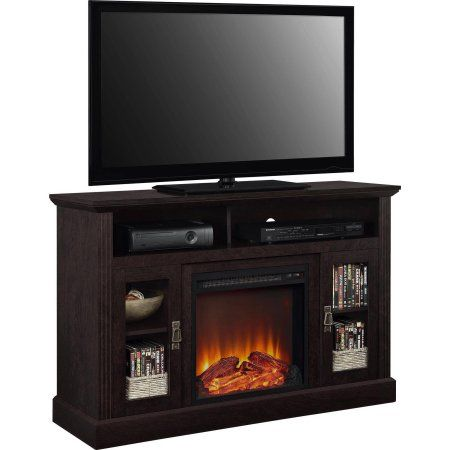 Ameriwood Home Chicago Fireplace Espresso Tv Console For Tvs Up To 50 Walmart Com Fireplace Tv Stand Electric Fireplace Tv Stand Fireplace Tv Electric fireplace tv stand combo