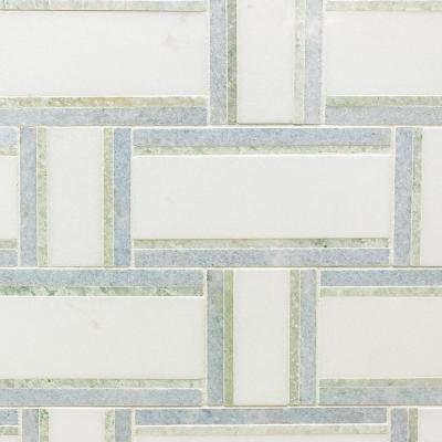 Ivy Hill Tile Mingle Ming Green Interlocking 12 7 8 In X 12 3 4 In Marble Mosaic Tile 1 14 Sq Ft Marble Mosaic Tiles Marble Mosaic
