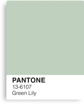 'Green Lily Pantone' Canvas Print by PineappleInk