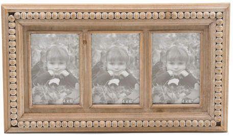4x6 Wood Three Photo Frame Three Photo Frame Photo Frame Family Photo Frames