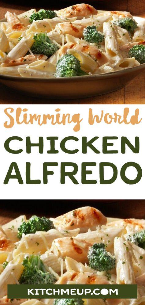 Chicken Alfredo #dinner #chicken #pasta #cheese #slimmingworld #slimming_world #weightwatchers  #lowcarb #keto #glutenfree #dairyfree #paleo