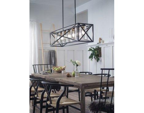 Moorgate 5 Light Linear Chandelier By Kichler Farmhouse Dining