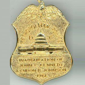 Washington Dc Metropolitan Police Department Presidential Inauguration Badge 1961 Police Badge Badge Police