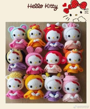 Cinco patrones gratis de amigurumis de Hello Kitty grandecitas ... | 434x360