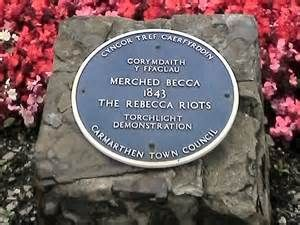 The Rebecca Riots took place between 1839 and 1843 in South and Mid Wales. They were a series of protests undertaken by local farmers and agricultural workers in response to perceived unfair taxation Welsh Cawl, Wales Rugby, Cardiff Wales, Street Names, London Eye, Cymru, British History, Great Britain, Homeland