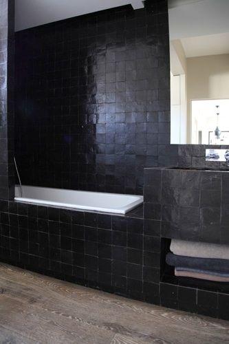 zelliges noirs - Atelier Premier Etage   HOME - Bathroom ...