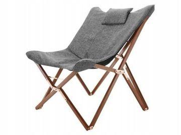 Fotel Szary Krzesło Składane Reżyserskie Design Finish