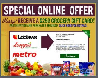 Gsc 250 Grocery Gift Card Canada Offer Grocery Gift Card Mcdonalds Gift Card Amazon Gift Card Free