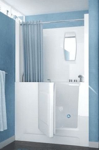 Walk In Bathtub With Optional Shower Surround Is Made Of High