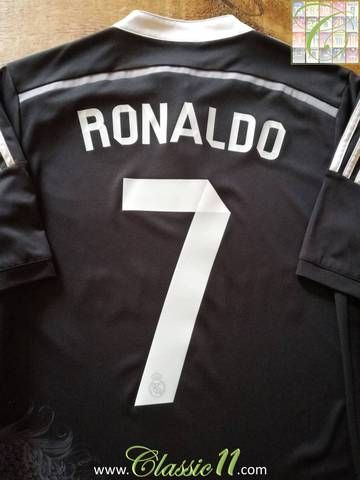 new arrival 38d49 41da3 2014/15 Real Madrid 3rd Football Shirt Ronaldo #7 (S ...