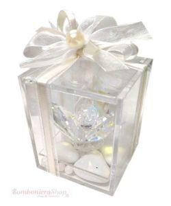 Fiore Cristallo Scatolina Plexiglass Bomboniera Matrimonio Originale Elegante Bomboniera Impreziosita All Interno D Bomboniere Cristalli Bomboniere Fai Da Te