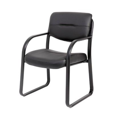 Sled Base Guest Chair Black Boss Office Guest Chairs Cheap