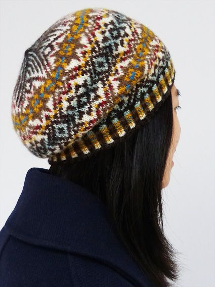 Fair Isle Hat in Charcoal and Natural White Handmade from Pure ...
