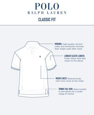 Polo Ralph Lauren Men's Classic-Fit Soft-Touch Polo - Gray XS ...