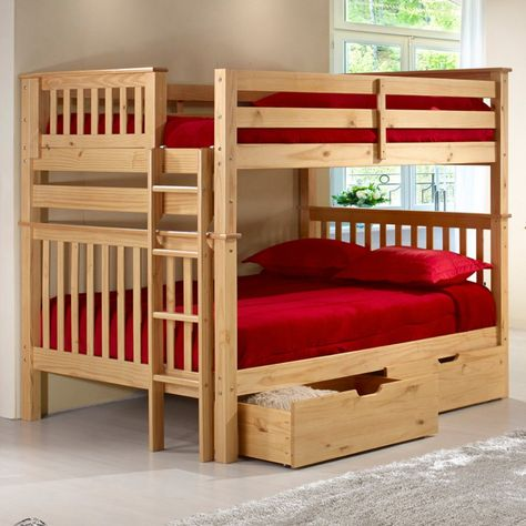 Camaflexi Santa Fe Mission Tall Bunk Bed Full Over Full Bed End