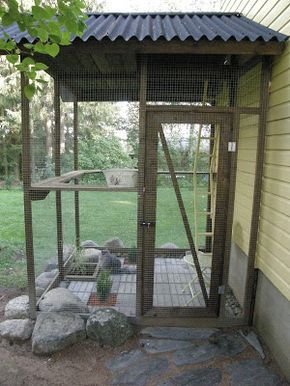 Cat Enclosure Click On It To Go To The Website And See A Lot Of Other Pictures Text Is Not In English Though Outdoor Cat Enclosure Cat Enclosure Cat Garden