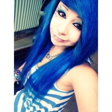 Find images and videos about gorgeous, blue hair and scene queen on We Heart It - the app to get lost in what you love.