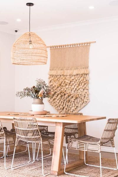 Pin By Gabriella On Interior In 2020 Rattan Dining Chairs Minimalist Home Interior House Interior