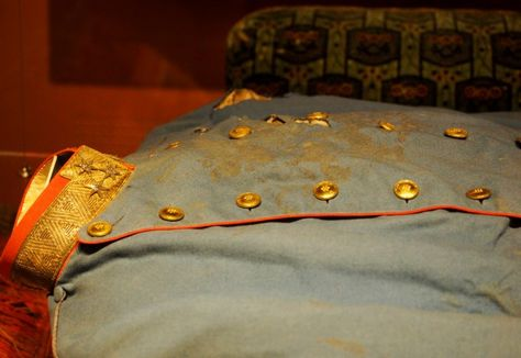 The bloodstained uniform worn by Archduke Ferdinand the day he was assassinated.