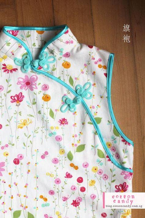 Patron gratuit : une robe chinoise pour petite fille