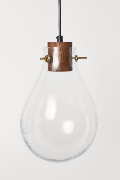 Plafonnier En Verre Verre Transparent H M Fr I 2020 Hangande Lampa Glodlampa Lampor