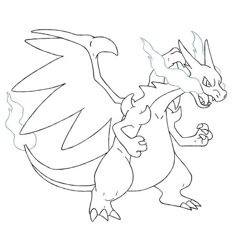 Mega Charizard X Coloring Pages Pokemon Coloring Pages Pokemon