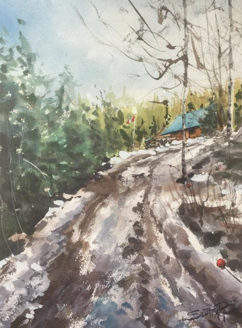Path To The Cabin Plein Air Watercolor Painting Watercolor