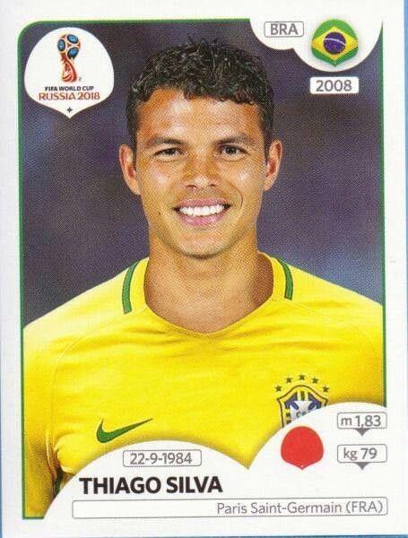 Thiago Silva Brazil Thiago Silva Figurinhas Da Copa Copa Do Mundo