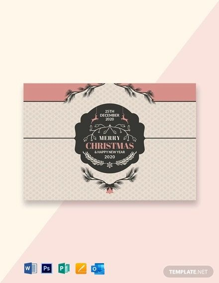 Free Retro Style Christmas Card Template Word Doc Psd Apple Mac Pages Publisher Outlook Christmas Card Template Send Christmas Cards Greeting Card Template